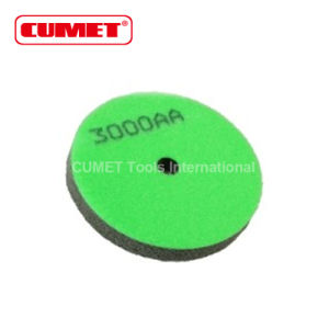 3000AA Grit Sponge Polishing Wheel Pad (Grey/Green) pictures & photos
