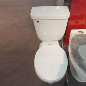 9011 Economic Round Siphonic Two Piece Ceramic Toilet pictures & photos