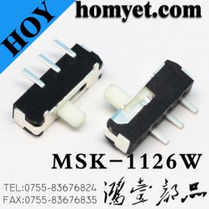 SMT Type Spdt on-on Micro Switch Horizontal Slide Switches (HY-1126W) pictures & photos
