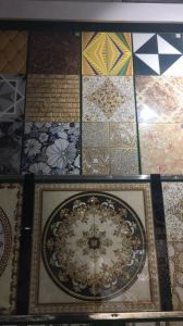 300X300mm Gilt and Silver Ceramic Wall Tile in Middle East pictures & photos