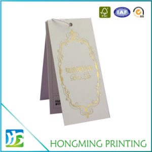 Custom Logo Gold Foil Hang Tags pictures & photos