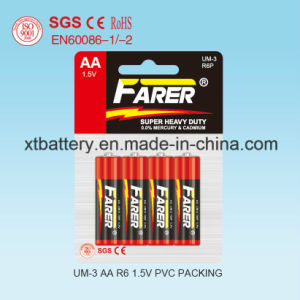 1.5V Farer Super Heavy Duty Dry Battery (R6 AA, Um-3) pictures & photos