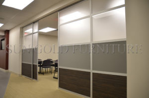 Popular Office Partition with Single Glass and Board Option (SZ-WS686) pictures & photos