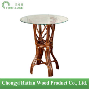 Natural Rattan Round Table for Bar