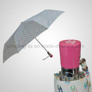 PU Leather Handle Fashion Luxury Umbrella Automatic Open&Close Rain/Sun Umbrella (JF-ADB303) pictures & photos