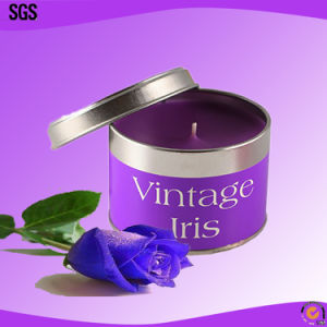 Customized Scented Soy Tin Candles with Metal Lid