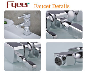 Fyeer Original Design Geometry Style Simple Individuality Chrome Plated Wash Faucet Sink Mixer Tap Wasserhahn pictures & photos