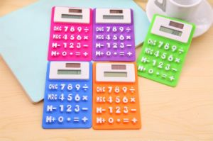 Solar Powered Foldable Silicone Dual Power System Calculator pictures & photos