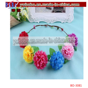 Bride Boho Flower Headband Wedding Floral Crown Hair Band (BO-3068) pictures & photos