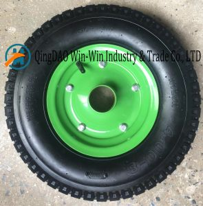Pneumatic Rubber Wheel Used on Heavy Duty Equipments (4.00-8) pictures & photos