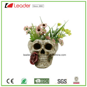 Hand-Painted Polyresin Skull Planters for Halloween and Garden Decoration pictures & photos