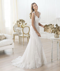 Full Lace Mermaid Sexy Bridal Dress Eith Cap Sleeve pictures & photos
