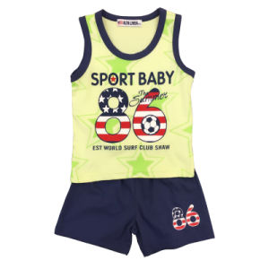 New Style Summer Boy Clothing, Boy Round Neck T-Shirt Suit pictures & photos