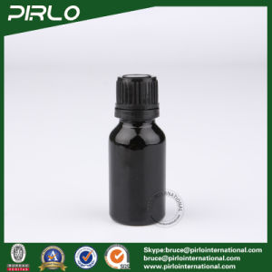 15ml Black Essential Oil Glass Bottle with Black Cap pictures & photos