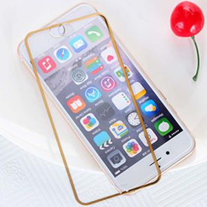 Color Bumper Silk-Screen Printing Tempered Glass Film for iPhone 6/6s/6 Plus