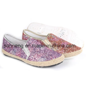 Women′s Shoes New Style Shinny Glitter Flat Espadrilles /Shoes (SNC-45045) pictures & photos