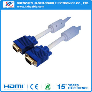 Factory Male to Male 1080P VGA Cable with Blue Plug pictures & photos