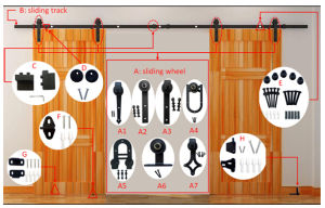 Black Sliding Barn Door Hardware pictures & photos
