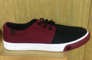 2016 New Style Vulcanized Rubber Outsole Lace up Canvas Fashion Shoes pictures & photos