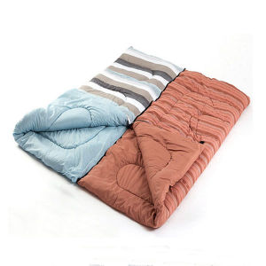 Striped Travel Spliceable Hollow Cotton Sleeping Bag pictures & photos