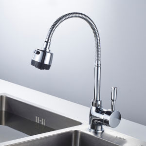 FLG Chrome Kitchen Sink Faucet 360 Swivel Sprayer Deck Mounted pictures & photos