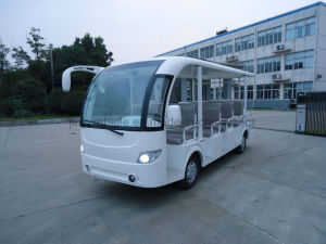 72V5kw/DC Electric Tourism Car with 14 Passenger Seats pictures & photos