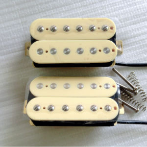 Wax Potted AlNiCo 2 Cream Color Humbucker Guitar Pickup pictures & photos