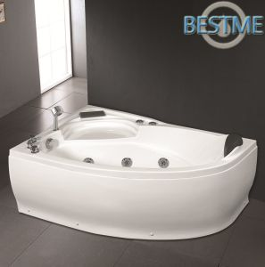 Hot Sales Triangle Acrylict Bathroom Jacuzzi Bathtub pictures & photos