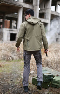 Green Hoodie Army Uniform Waterproof Military Hunting Softshell Jacket pictures & photos