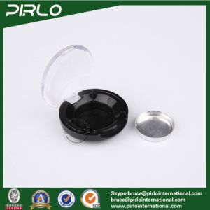 1g Black Plastic Cosmetic Jar Makeup Powder Plastic Loose Powder Jars with Clear Flip Top Cap pictures & photos