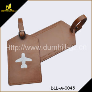 Hot Sell Wholesale PU Leather Luggage Tag Brown pictures & photos