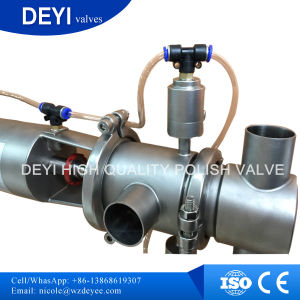 SS304 Pneumatic 63.5mm Mix-Proof Valve for CIP Recover pictures & photos