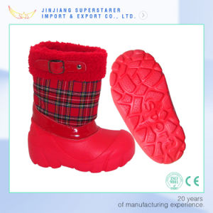 Students Girls Red EVA Child Boot with Fur pictures & photos