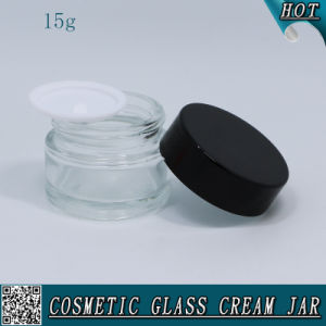 15g 1/2 Oz Transparent Glass Cosmetic Empty Glass Face Cream Jar pictures & photos