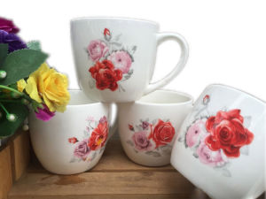 Decal Ceramic Soup Cup in China Factory with Good Quality pictures & photos