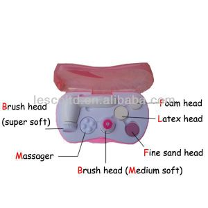Rounded Handle Face Brush with 6 Optional Cleaning and Massage Heads Clean & Beauty Skin pictures & photos