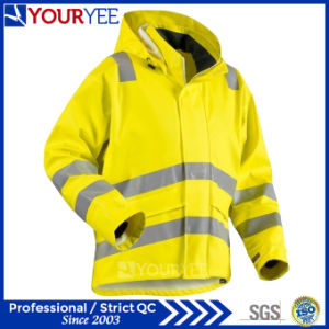 Heavy Weight Windbreaker Waterproof Reflective Hi Vis Rain Jacket (YFG114) pictures & photos