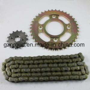 Guangzhou High Quality Chain and Sprocket Motorcycle Part pictures & photos
