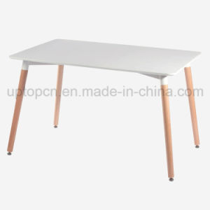 Plastic Restaurant Table with Wooden Legs (SP-GT186) pictures & photos