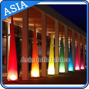 Color Changing LED Inflatable Lighting Tower, Beautiful LED Inflatable Lighting Cone pictures & photos