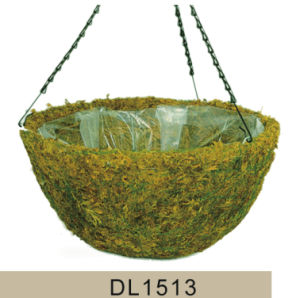 Cone Shaped Moss Hanging Flower Basket pictures & photos