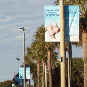 Top Popular High Quality Customized Double Sided Pole Banners pictures & photos
