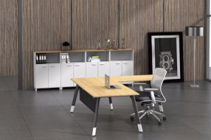Black Customized Metal Steel Office Executive Table Frame Ht69-2 pictures & photos