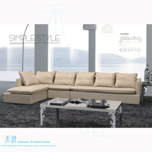 Modern Style Leather L-Shape Corner Sofa for Home (602S)