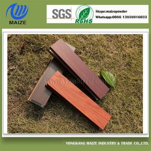 Extruded Aluminium Profile Wood Grain Powder Coating pictures & photos