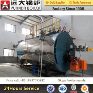 8000kg/H Horizontal Fire Tube Three Pass Condensing Boiler Gas Fired pictures & photos