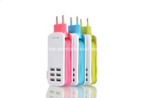 5V/6A 6 Port USB Charger Universal USB Au/EU/UK Socket Wall Charger pictures & photos