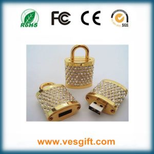 Silver/Golden Lock Design Promotional Gift USB Memory Disk pictures & photos