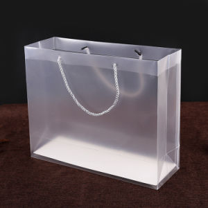fashion handle clear gift plastic PVC hand bags pictures & photos