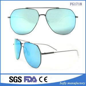 Fashion Teardrop Rimless Mirror Metal Frame Pilot Sunglasses pictures & photos